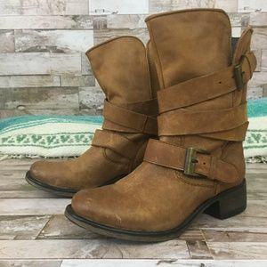 Steve Madden Grewzzer Motorcycle Boot Leather sz.6